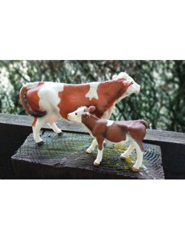 FIGURINE LOT - Vache et son...